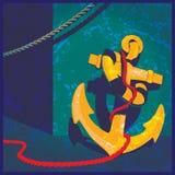 Vintage nautique de thème Images libres de droits