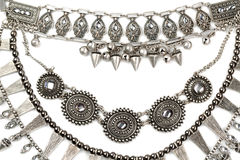 Vintage necklace made of steel Royalty Free Stock Image