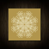 Vintage Needle lace. Traditional floral ornament Stock Photo