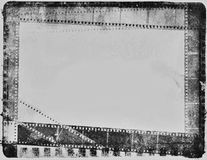 Vintage negative movie film strip black white vintage Royalty Free Stock Images
