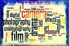 Vintage negativo do branco do preto da tira do filme de filme da câmera do vintage Foto de Stock Royalty Free