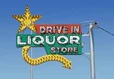 Vintage neon liquor Royalty Free Stock Photo