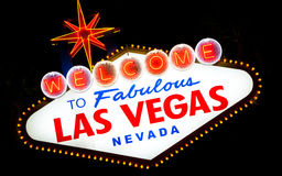 Vintage, neon motel sign Royalty Free Stock Photos