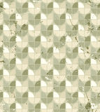 Vintage neutral geometric seamless pattern, stained glass abstra Stock Image
