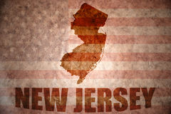 Vintage new jersey map Royalty Free Stock Images