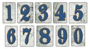 Vintage New Orleans Street Tiles Numbers Stock Images