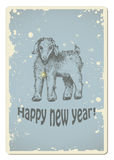 Vintage new year card Royalty Free Stock Image