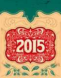 2015 vintage New Year holidays design - western style. 2015 New Year holidays design - western style - cowboy belt buckle - eps available Stock Images