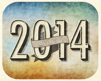 Vintage New Year's Eve Card. Royalty Free Stock Images