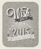 Vintage New Year's Eve Card. Royalty Free Stock Image