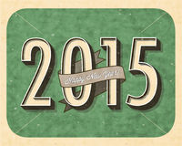 Vintage New Year's Eve Card. Royalty Free Stock Photos