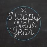 Vintage New Year Typographic Background. / Grunge Style vector illustration
