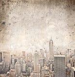 Vintage New York. Vintage view of New York Stock Photos