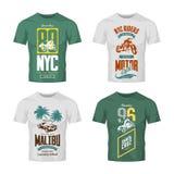 Vintage New York bikers club vector logo t-shirt mock up set. Stock Photo