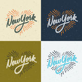Vintage New York handwritten t-shirt apparel design Royalty Free Stock Photos