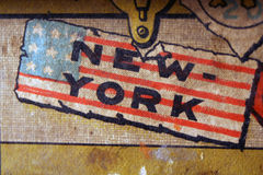 Vintage new york logo. A new York logo from an old paper box stock illustration