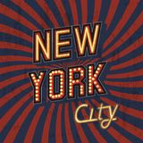 Vintage New York Poster Stock Image