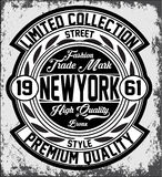 Vintage New York typography, t-shirt graphics, vectors Royalty Free Stock Images