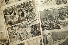 Vintage news paper background Royalty Free Stock Image