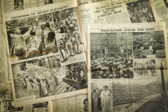 Vintage news paper background Royalty Free Stock Photo