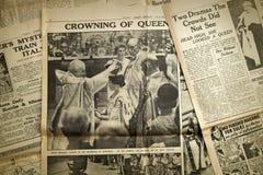 Vintage news paper background, London Stock Photos