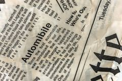 Newspaper texture. Vintage newspaper background. stock image