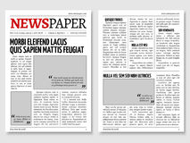 Vintage Newspaper Journal Vector Template Paper Tabloid On Newsprint Reportage Information Illustration Royalty Free