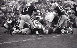 Vintage NFL San Diego Chargers contra Oakland Raiders, el 13 de octubre de 1968 fotografía de archivo libre de regalías