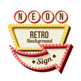 Vintage Night 3D advertising sign Stock Photos