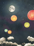 Vintage night sky background Stock Images