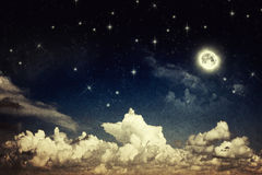 Vintage night sky Royalty Free Stock Images