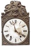 Vintage nineteenth century clock. Isolated on white Stock Images
