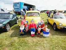 Vintage Noddy car showing outdoor. Vintage Noddy car show outdoor at Northumberland Wings & Wheels festival at Eshott Airfield north of Morpeth, England, taken royalty free stock photos