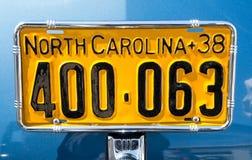 Vintage North Carolina Auto License Plate royalty free stock photos
