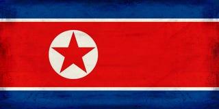 Vintage North Korea flag background Royalty Free Stock Photos