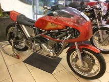 Custom Handbuilt Norton Motorcycle Stock Photos