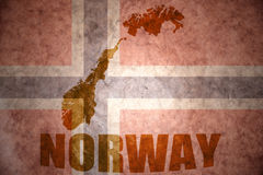 Vintage norway map Royalty Free Stock Photo