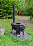 Vintage  Norwegian stove. Royalty Free Stock Photos