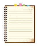Vintage note pad Royalty Free Stock Photo
