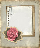 Vintage notebook page Royalty Free Stock Photo