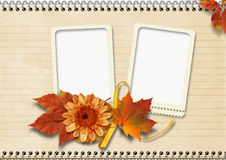 Vintage  notebook page with frames Royalty Free Stock Photos