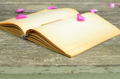 Vintage notebook and pencil Royalty Free Stock Images