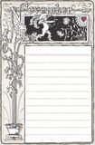 Vintage November Page with Archer Cupid Royalty Free Stock Images