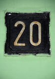 Vintage number 20 stock image