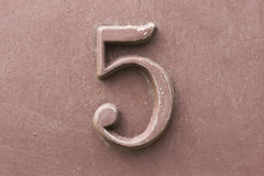 Vintage number five Royalty Free Stock Photo
