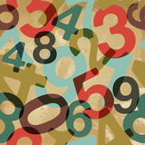 Vintage numbers pattern Stock Photography