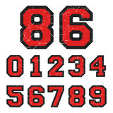 Vintage numbers stamp Royalty Free Stock Photography