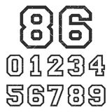 Vintage numbers stamp Royalty Free Stock Photos