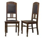 Vintage Oak Chairs isolated on white background Royalty Free Stock Image