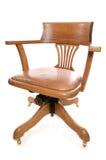 Vintage oak captains chair Stock Image